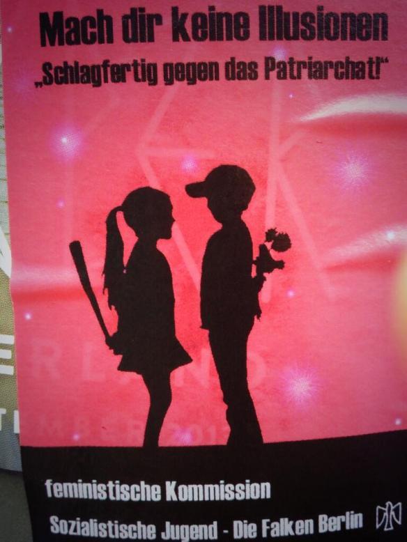 Poster feministische Kommission, Sozialistische Jugend - Die Falken Berlin